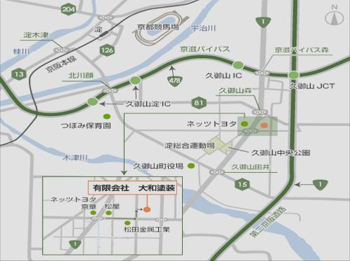 焼付・粉体・樹脂・メラミン・エポキシ・ウレタン塗料_アクセス地図